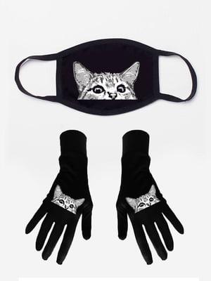 Набір: маска і рукавички з принтом | 5394217