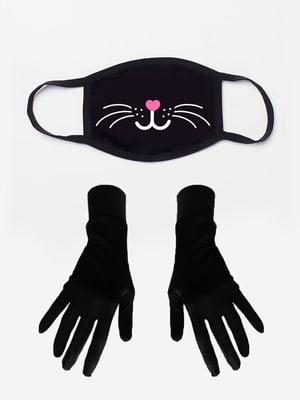 Набір: маска і рукавички з принтом | 5394218