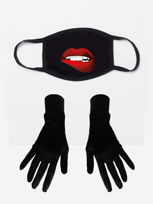 Набір: маска і рукавички з принтом | 5394219