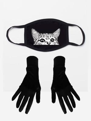 Набір: маска і рукавички з принтом | 5394221