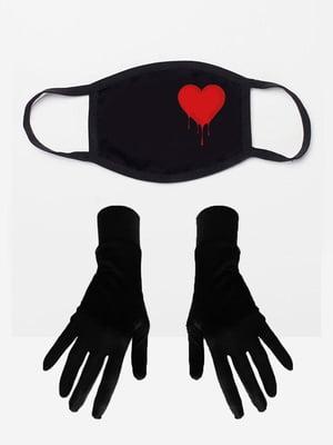 Набір: маска і рукавички з принтом | 5394222