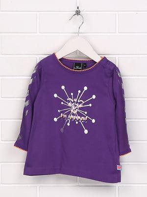 Лонгслів фіолетовий з принтом | 5394356