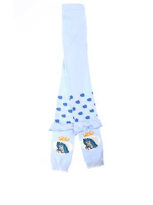 Легінси блакитні з принтом | 5394416