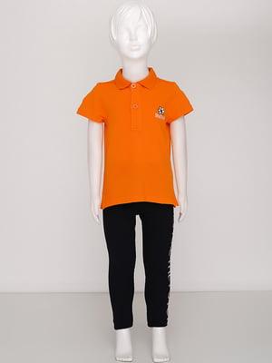 Футболка-поло помаранчева | 5394453