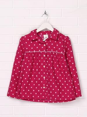 Рубашка малинового цвета в горох | 5394484