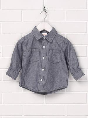 Рубашка серо-синяя   5394583