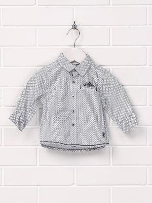 Рубашка белая с принтом   5394665
