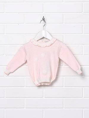 Джемпер розовый в полоску | 5394686
