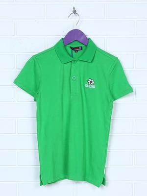 Футболка-поло зелена | 5394706