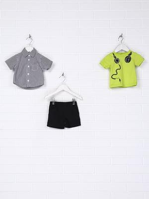 Костюм: сорочка, футболка і шорти | 5394719