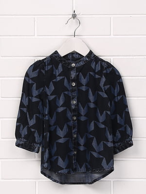 Рубашка синяя с принтом | 5394767