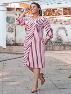 Сукня кольору пудри в смужку | 5394957