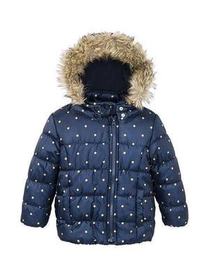 Куртка синяя в горошек | 5395036