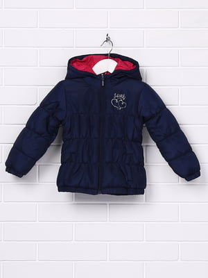 Куртка темно-синя з принтом | 5395038