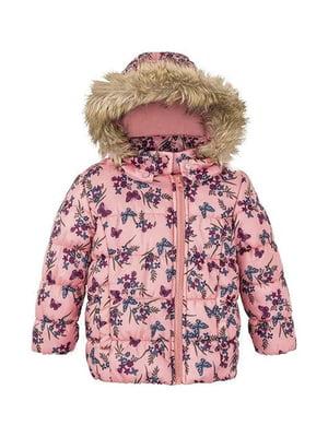 Куртка розовая в принт | 5395059