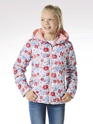 Куртка разноцветная в цветочный принт | 5395068