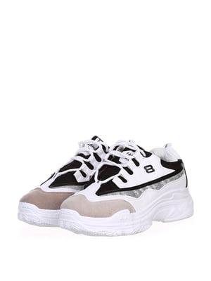 Кросівки біло-чорні | 5302878