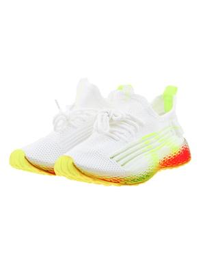 Кроссовки бело-зеленые | 5323483