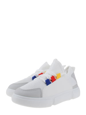 Кроссовки бело-серые | 5372487