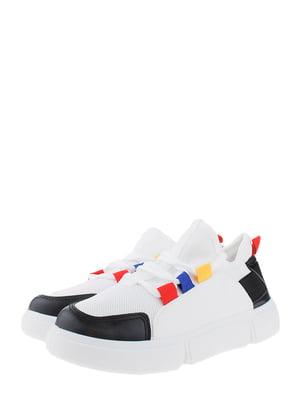 Кроссовки бело-черные | 5372489