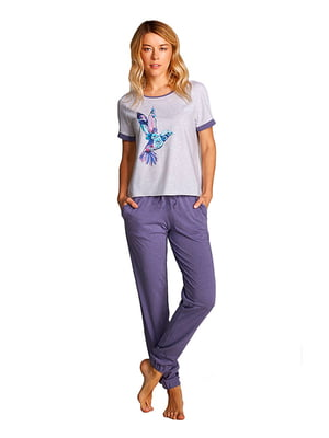 Комплект домашний: брюки и футболка | 5396099