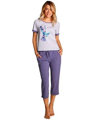 Комплект домашний: бриджи и футболка | 5396113