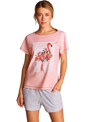 Комплект домашний: шорты и футболка | 5396115