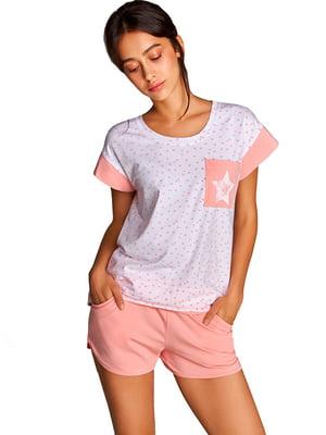 Комплект домашній: шорти та футболка | 5396116