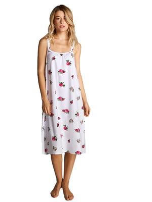 Сорочка домашня з принтом | 5396141
