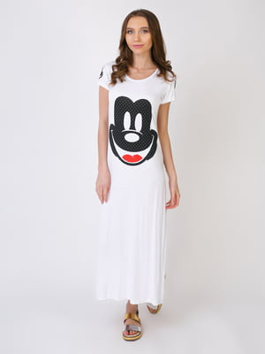 Сукня біла з принтом   5396293