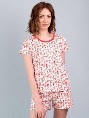 Пижама: футболка и шорты | 5395098
