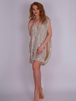 Сукня пляжна срібляста | 5396539