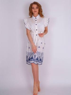 Сукня пляжна біла з вишивкою | 5396586
