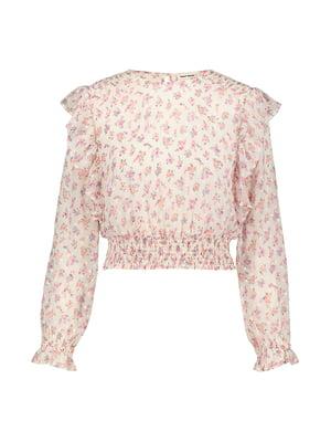 Блуза молочного цвета в цветочный прнит | 5396815
