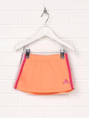 Юбка оранжевая с логотипом | 5397068