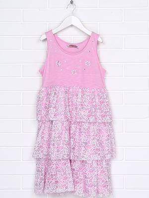 Сарафан рожевий в принт | 5397077