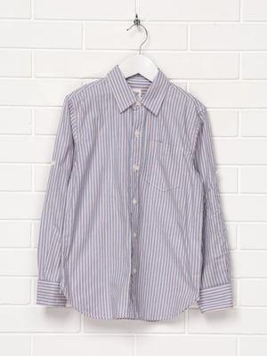 Рубашка синяя в полоску   5397105