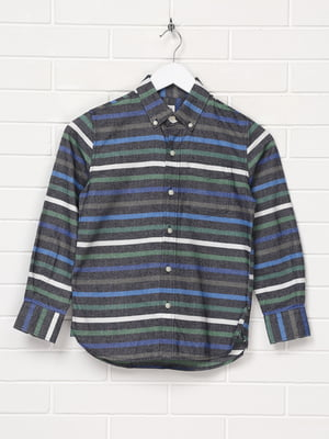 Рубашка синяя в полоску   5397108