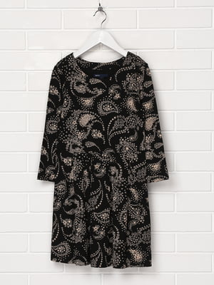 Сукня чорна в принт | 5397154