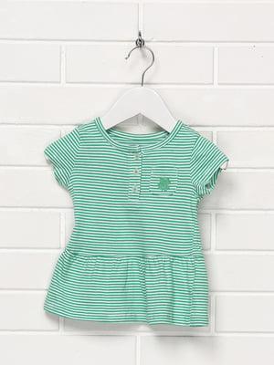 Платье зеленое в полоску | 5397248