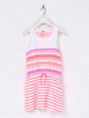 Платье розовое в полоску | 5397295