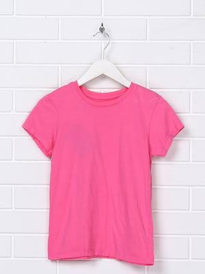 Футболка рожева з принтом | 5397306