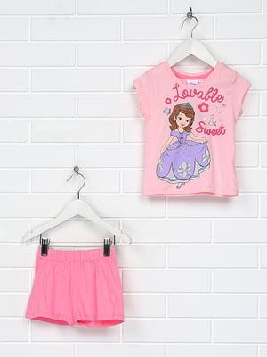 Піжама рожева з принтом | 5397437