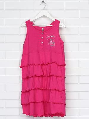 Сарафан розовый с принтом | 5397562