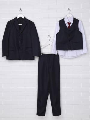 Комплект: піджак, жилет, сорочка з краваткою і штани | 5397590