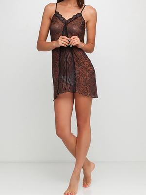 Рубашка ночная с леопардовым принтом | 5397014