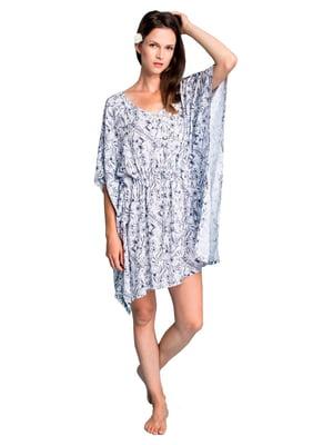 Рубашка домашняя белая с принтом | 5397790