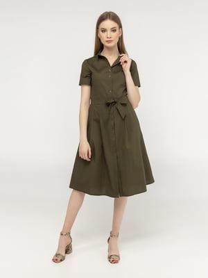 Сукня кольору хакі | 5398916