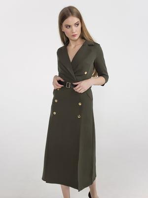 Платье цвета хаки | 5398943