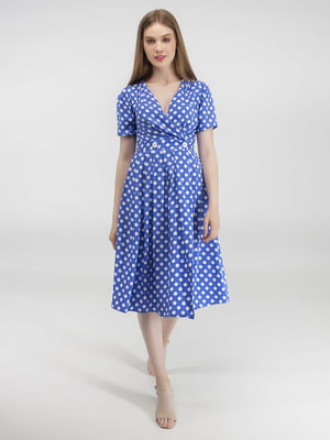 Сукня блакитна в білий горох | 5398987